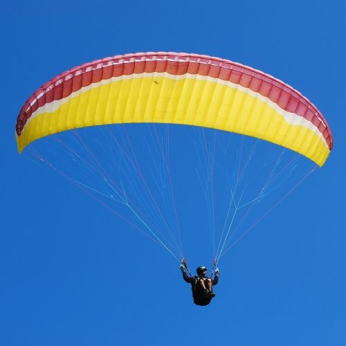 Paragliding Wing or Canopy in flight